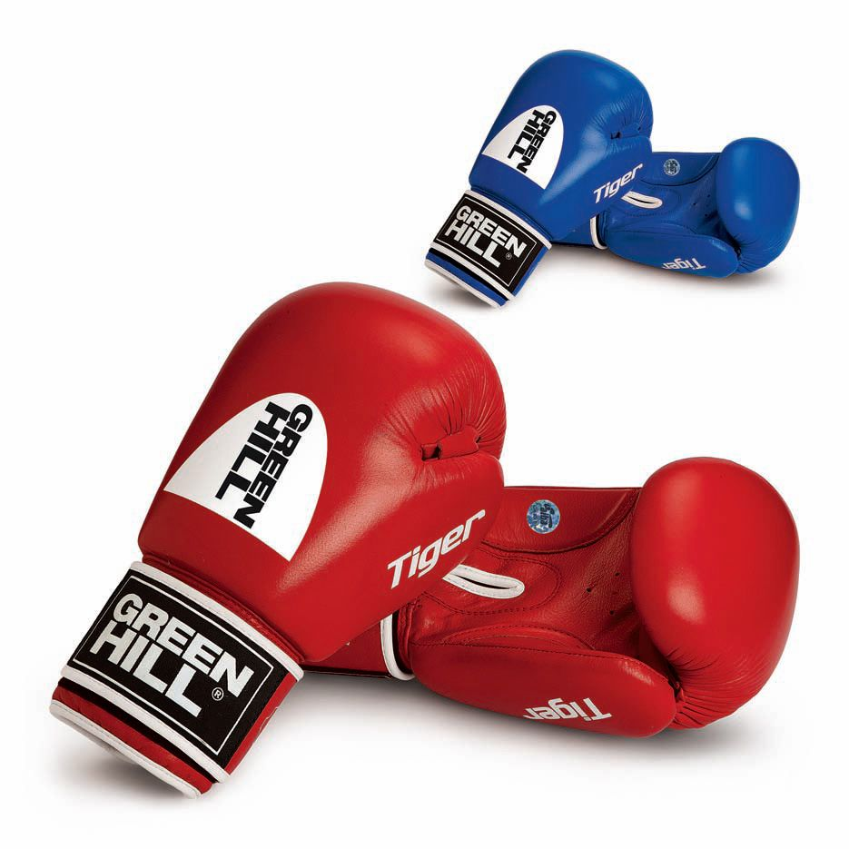 """Boxing Gloves """"TIGER AIBA"""" Green Hill"""