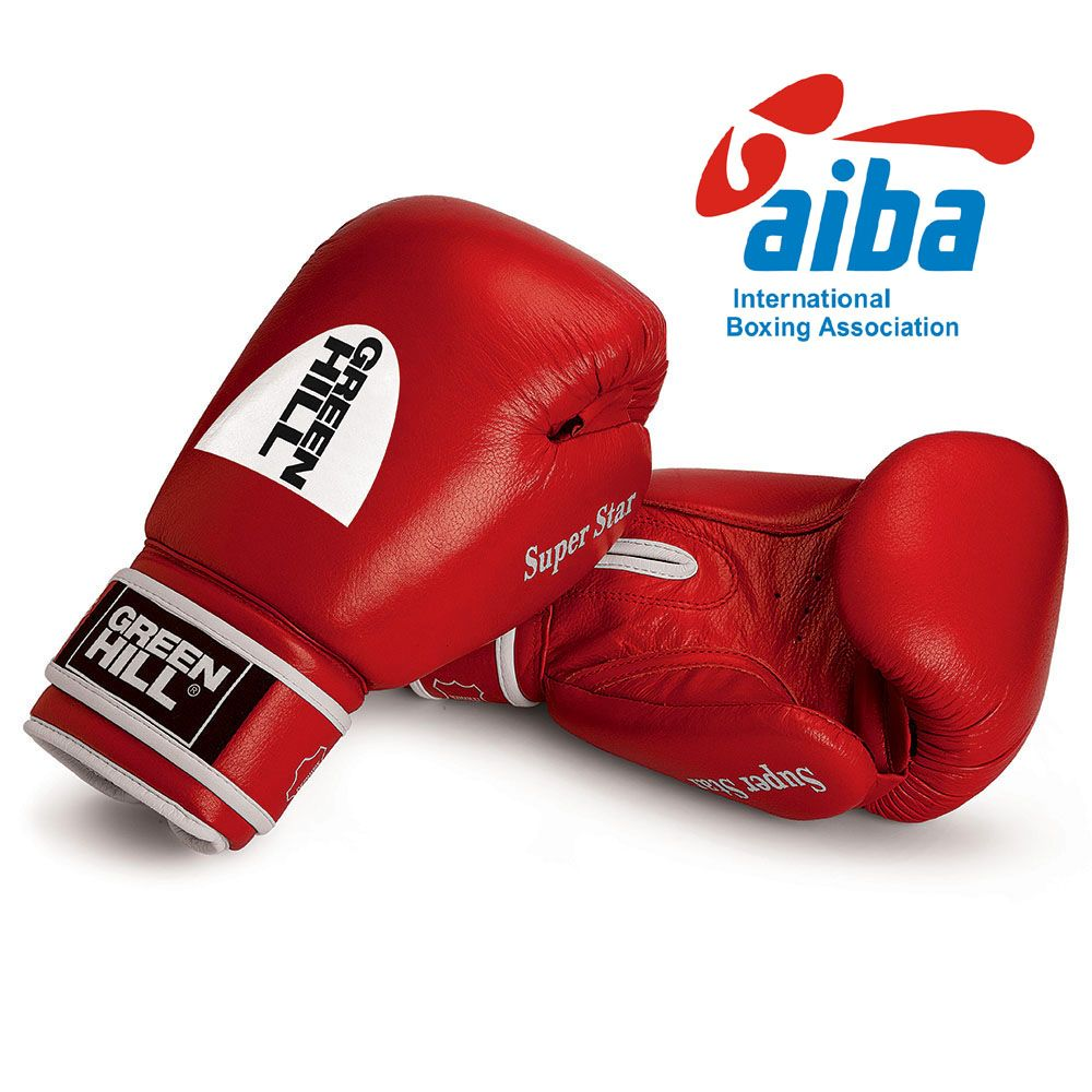 """Green Hill Boxing Gloves """"SUPER STAR"""" Aiba Approved"""